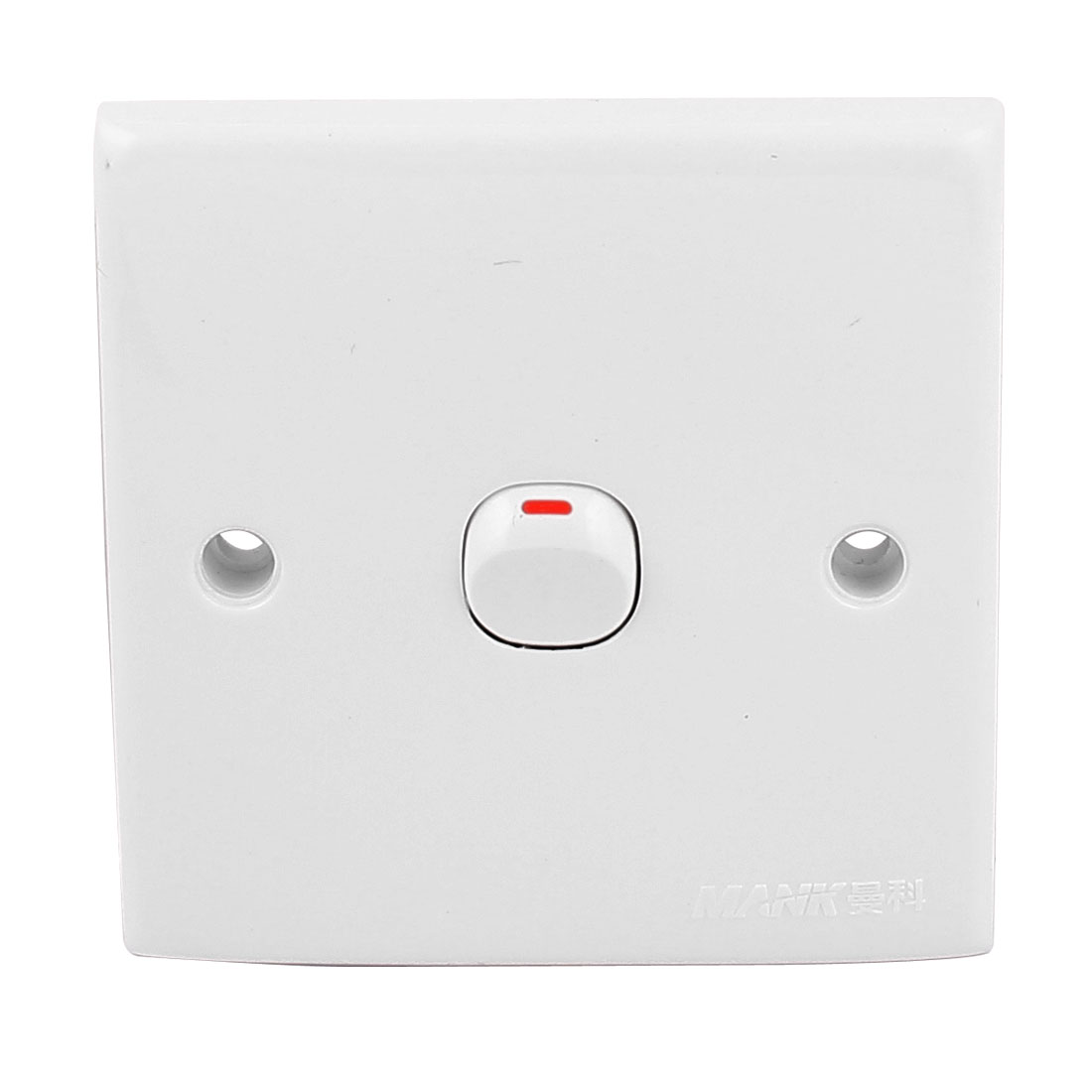 AC250V 10A 86mm x 86mm White Plastic Case Square On/Off Control Wall Mount Switch
