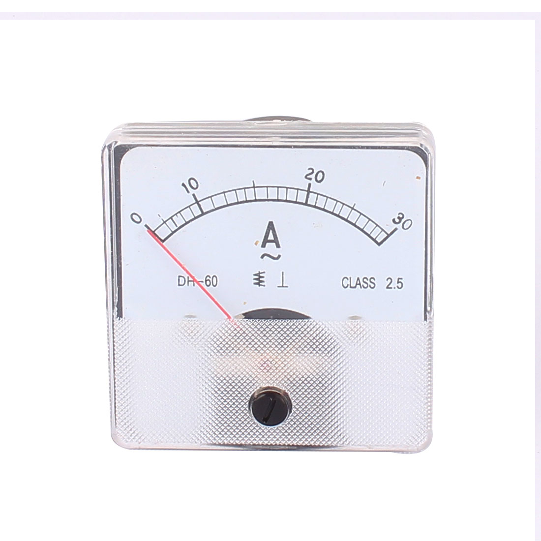 DH60 Pointer Needle DC 0-30A Current Tester Panel Analog Ammeter 60mm x 60mm