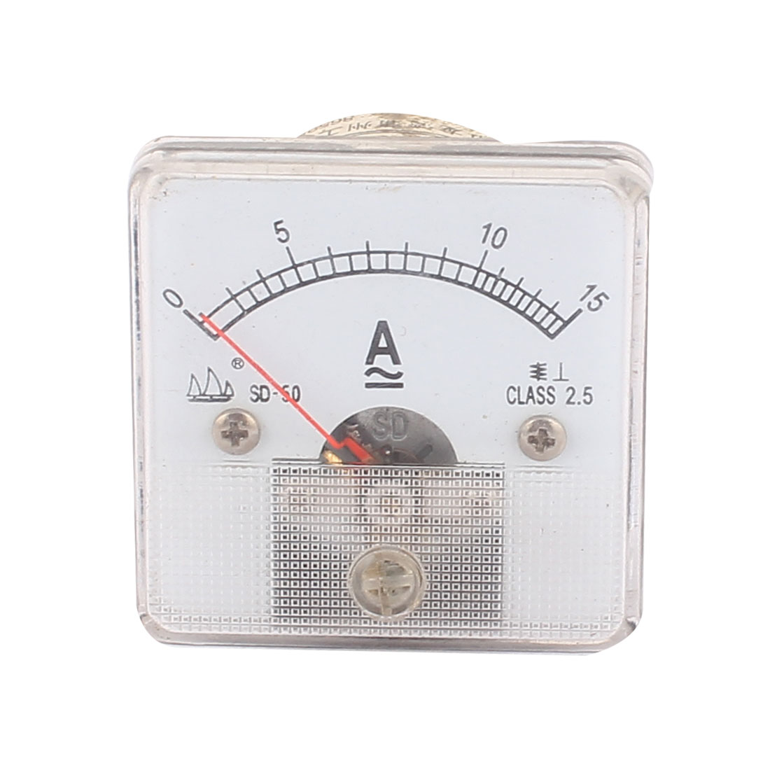 AC 0-15A 2.5 Class Plastic Rectangle Panel Ammeter Gauge Analog Current Amperemeter