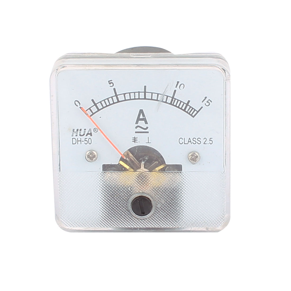 DH60 Pointer Needle DC 0-15A Current Tester Panel Analog Ammeter 50mm x 50mm