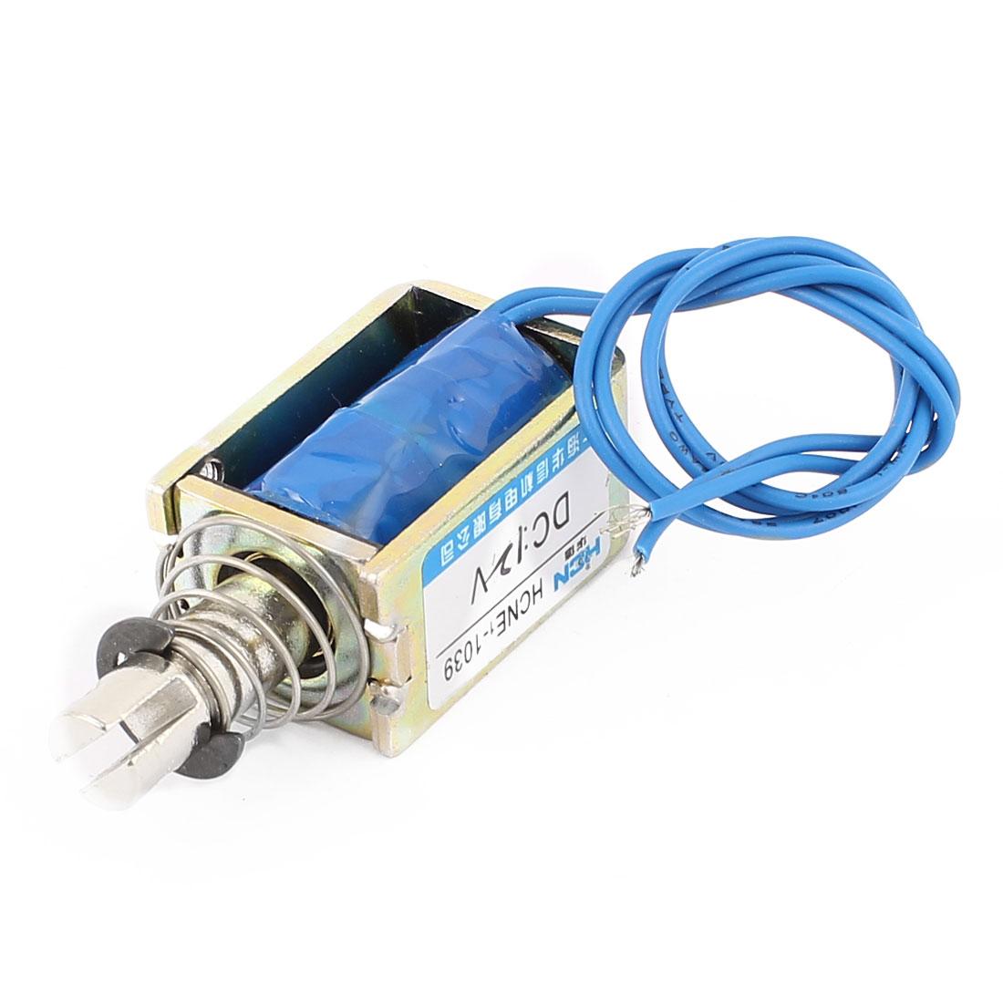 HCNE1-1039 DC 12V 2A 10mm 25N Push Pull Type DIY DC Solenoid Electromagnet Magnet