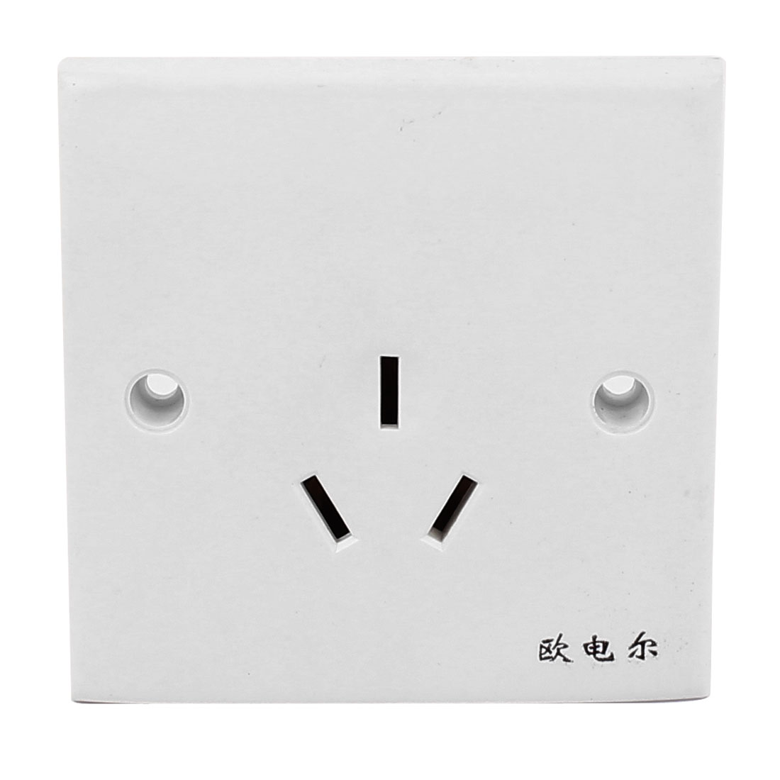 AC 250V 16A AU Socket Electric Power Wall Outlet Plate Panel 86mm x 86mm White