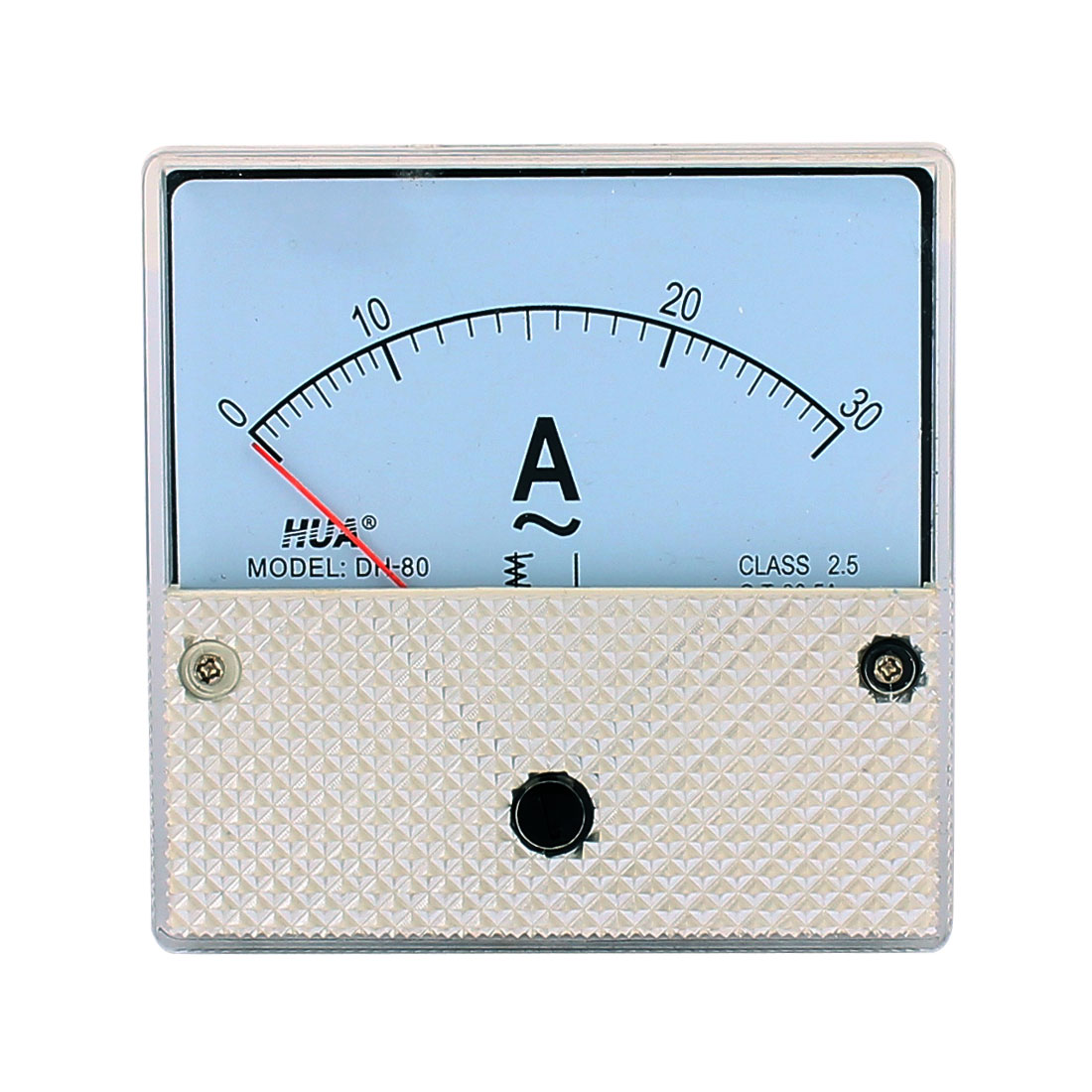 DH80 Pointer Needle AC 0-30A Current Tester Panel Analog Ammeter 82mm x 82mm