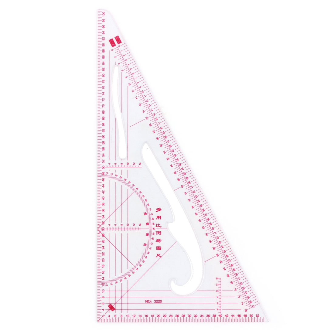 Household Offoce Classroom Plastic Geometric Tool Triangle Drawing Scale Ruler