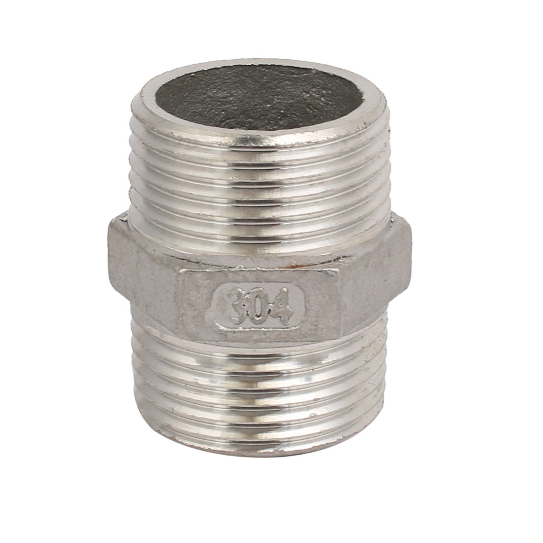 1BSP Male Thread 304 Stainless Steel Hex Nipple Quick Fitting Coupler
