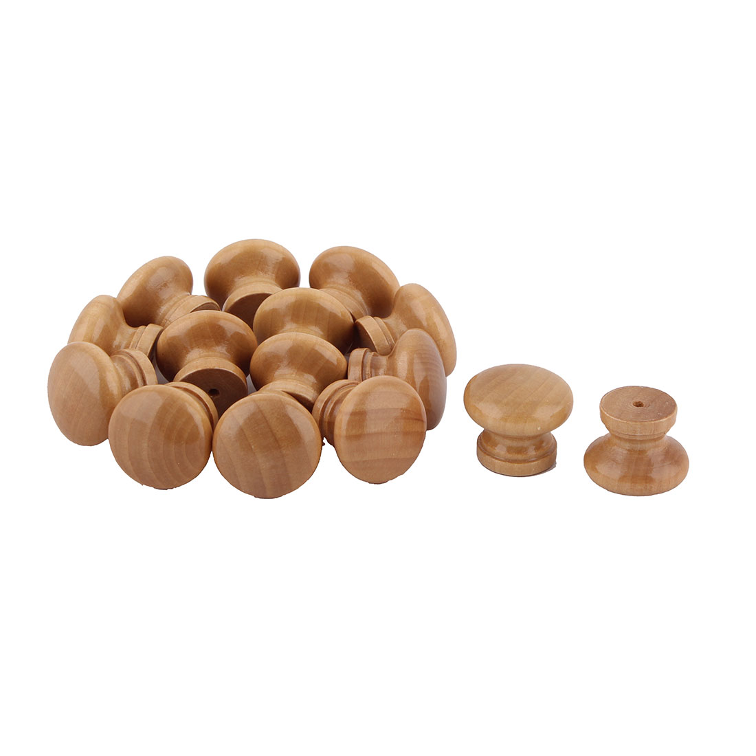 Household Office Wooden Round Shaped Cabinet Drawer Wardrobe Pull Knob Handle 15 Pcs