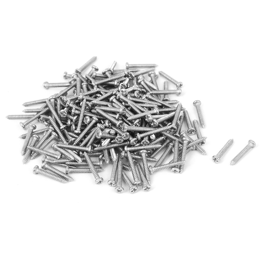 M1.8x12mm Thread Nickel Plated Phillips Round Head Self Tapping Screws 200pcs