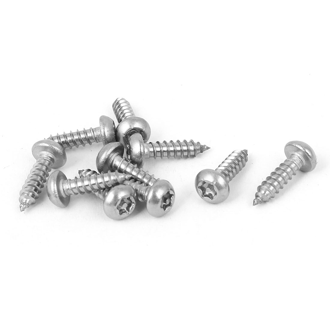 3.5mmx13mm Thread #6 Stainless Steel Round Torx Head Self Tapping Screws 10pcs