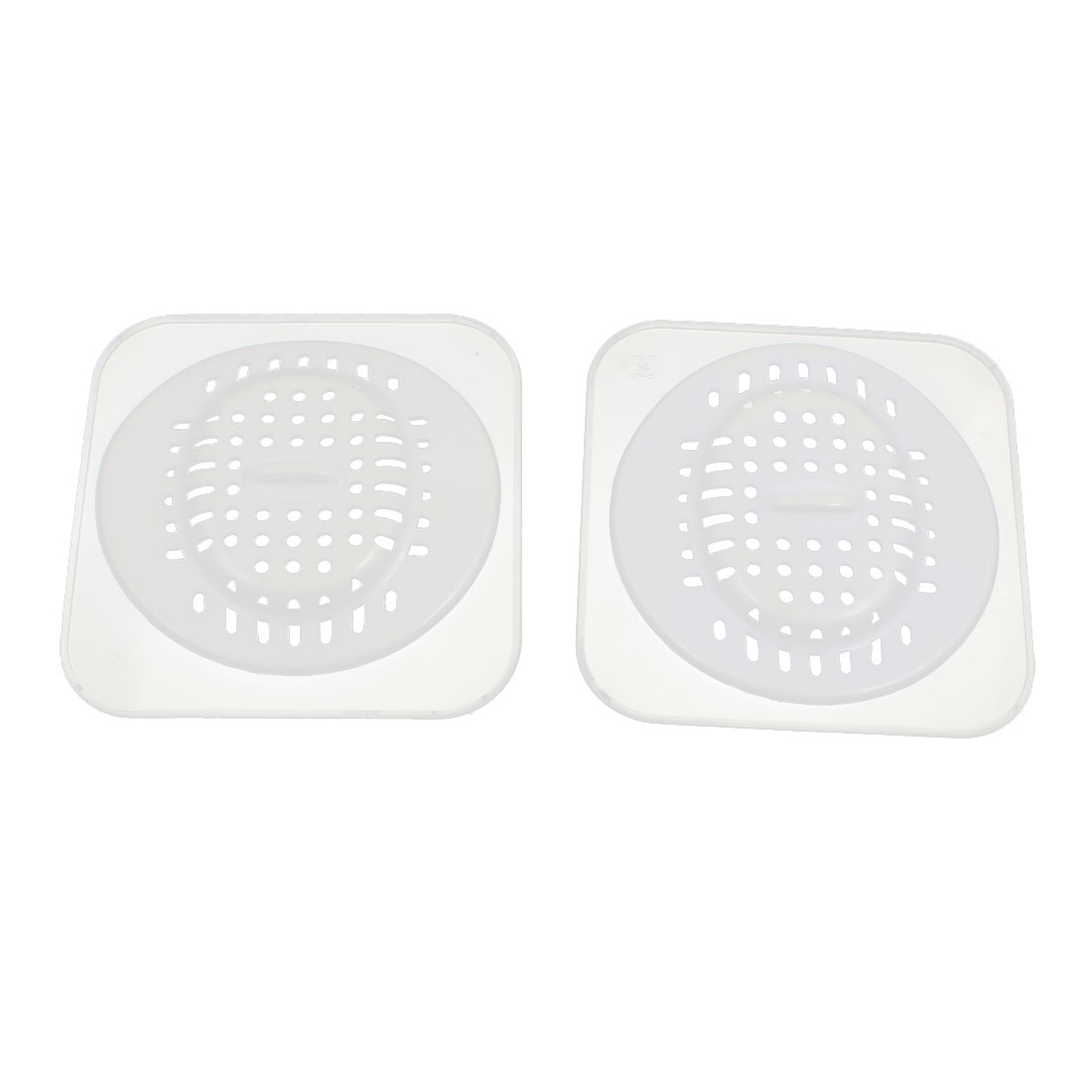 Bathroom Kitchen Bath Basin Sink Silicone Mesh Hair Catcher Stopper Floor Drain 2 PCS