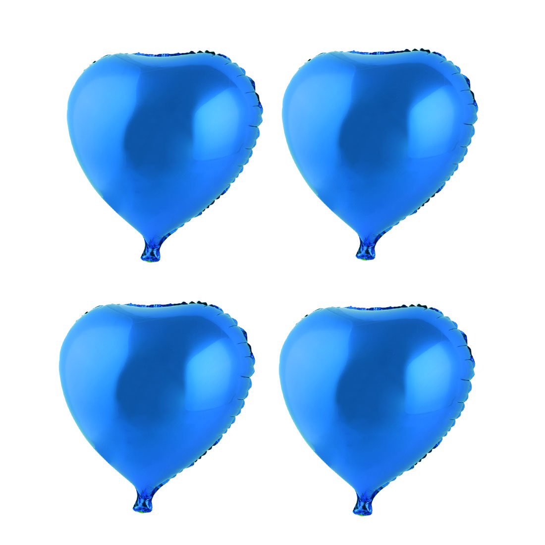 Birthday Wedding Party Valentine Foil Heart Shaped Decoration Balloon Blue 45cm 4 PCS