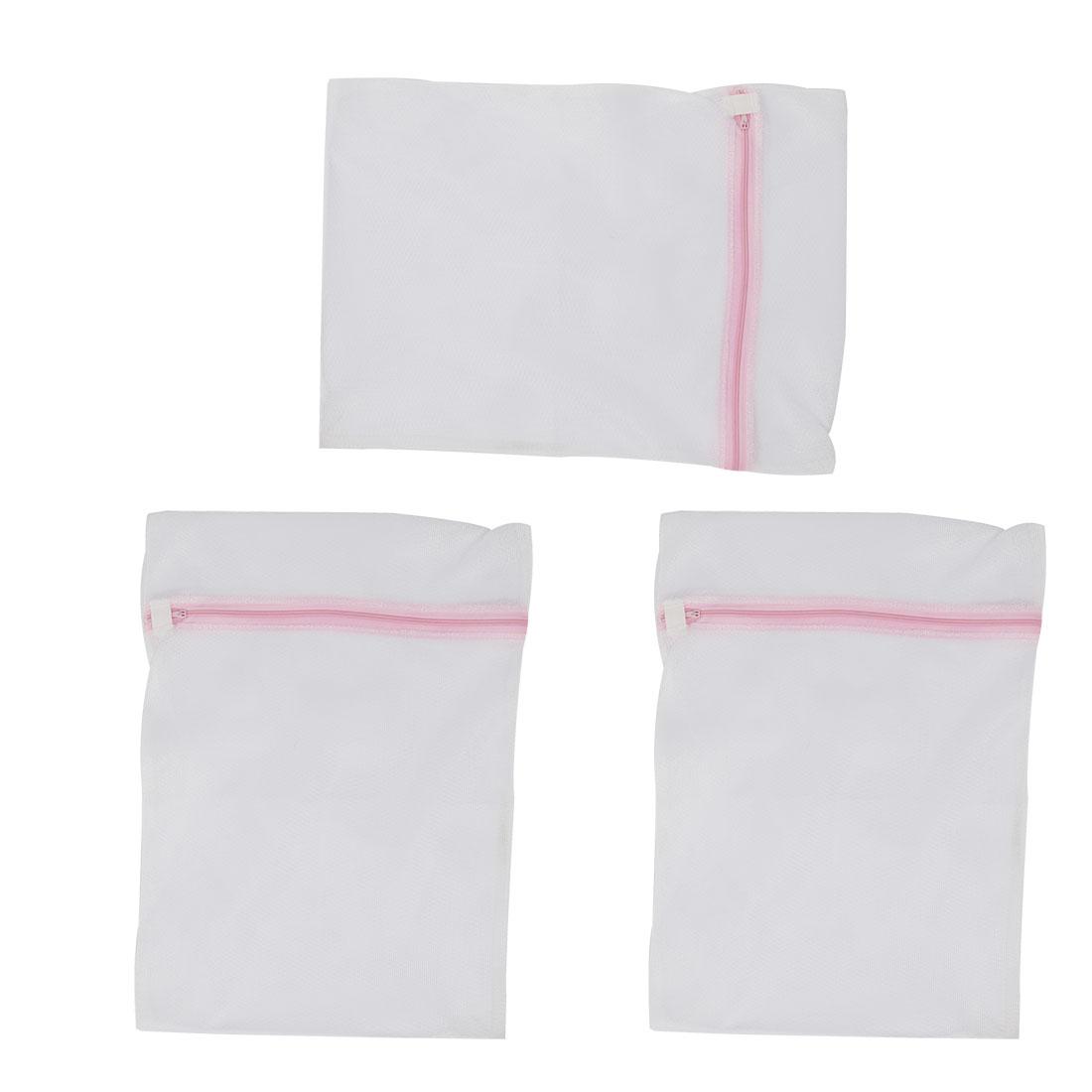 Home Laundry Washing Machine Clothes Socks Underwear Mesh Zippered Washing Bag 3pcs