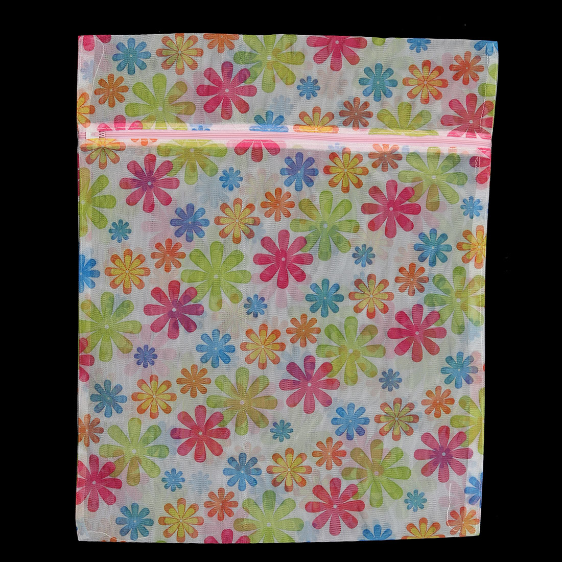 Home Laundry Chrysanthemum Pattern Garments Socks Underwear Mesh Zippered Washing Bag
