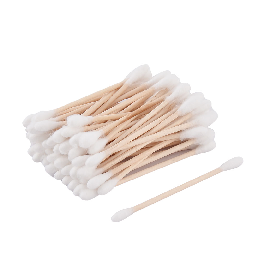 Wooden Rod Double Head Ear Cleaning Makeup Tool Cotton Swabs Bud 50 Pcs