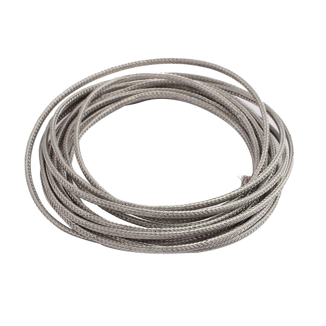 3.1M Length 0.5mm Dia. Temperature Sensor Thermocouple Wire Cable Gray