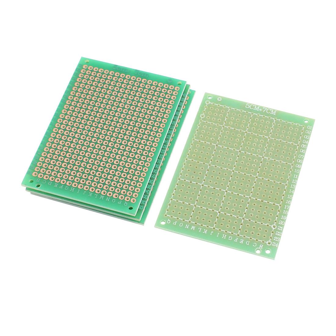 4pcs 5cm x 7cm Single Sided Universal DIY PCB Print Circuit Board Green