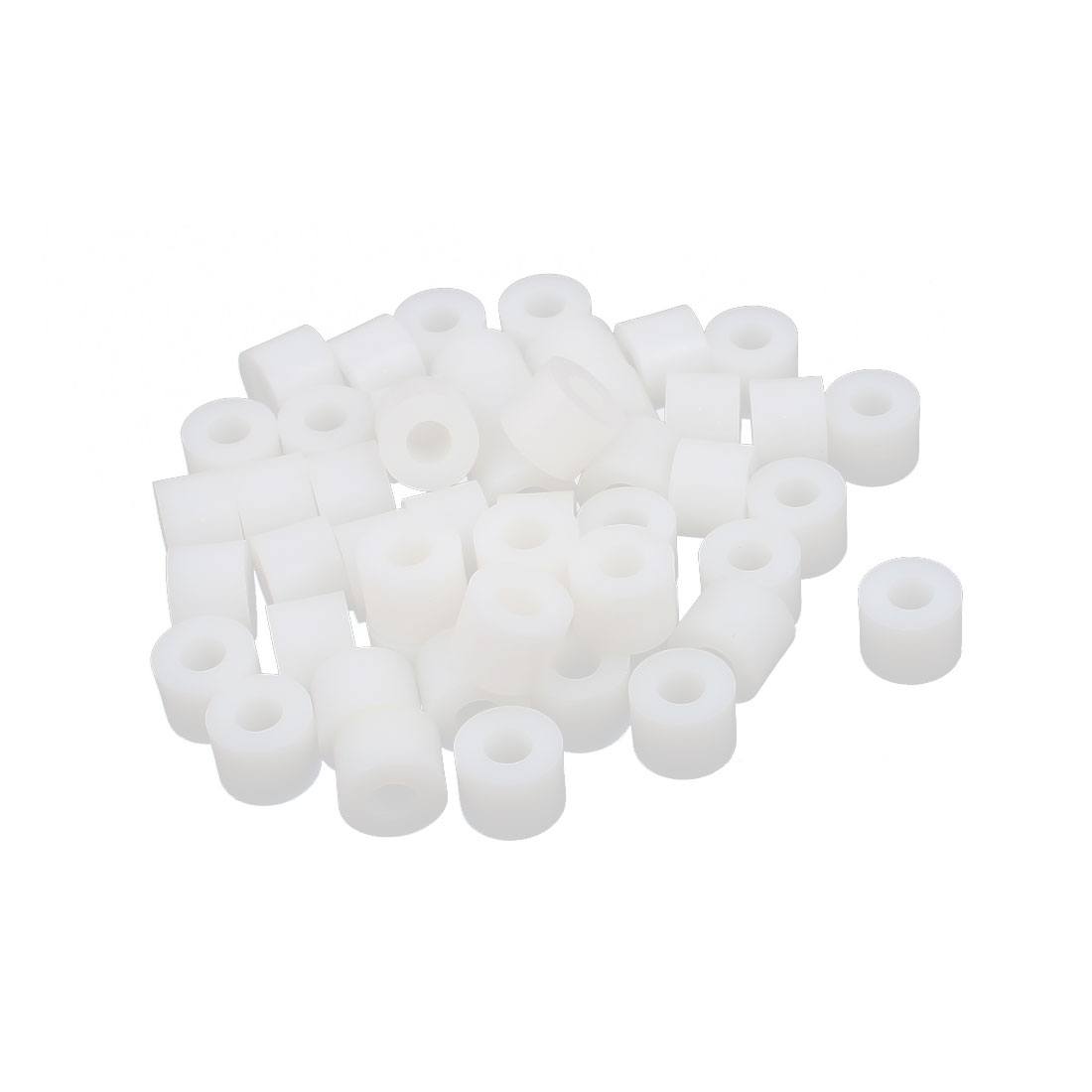 Round Plastic Column Standoff Support Spacer Tube White 12x9mm 50pcs