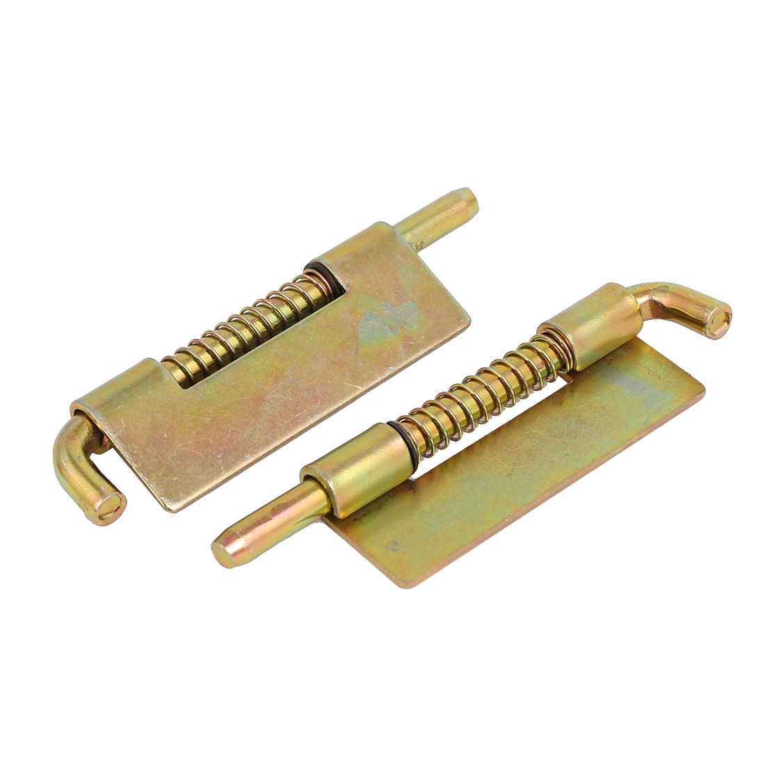 85mm Length Metal Spring Loaded Door Security Barrel Bolt Latch Bronze Tone 2pcs