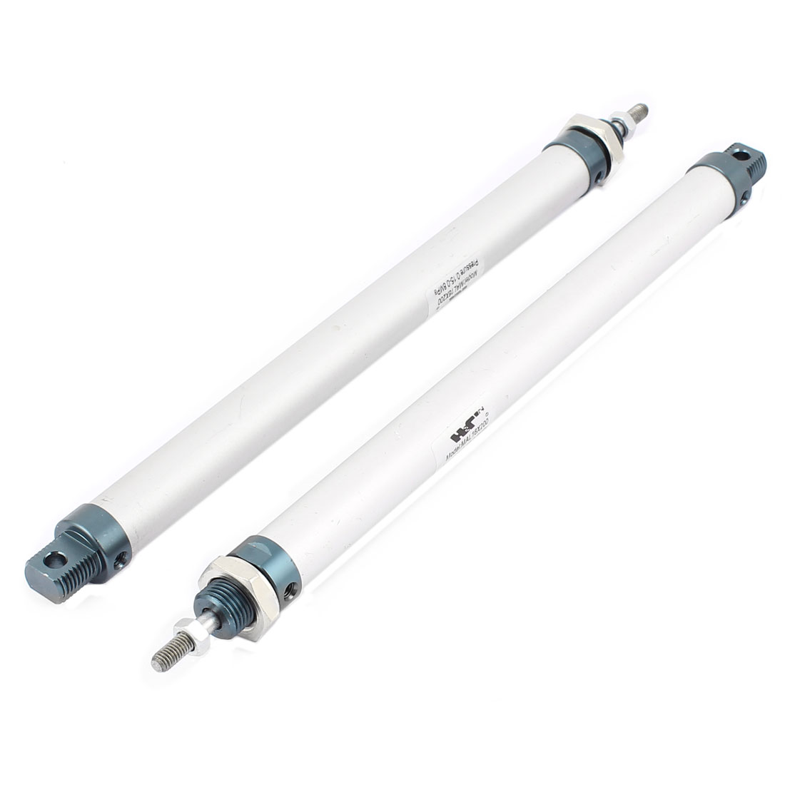 MAL16mm x 200mm Single Rod Double Action Stainless Steel Pneumatic Air Cylinder 2PCS