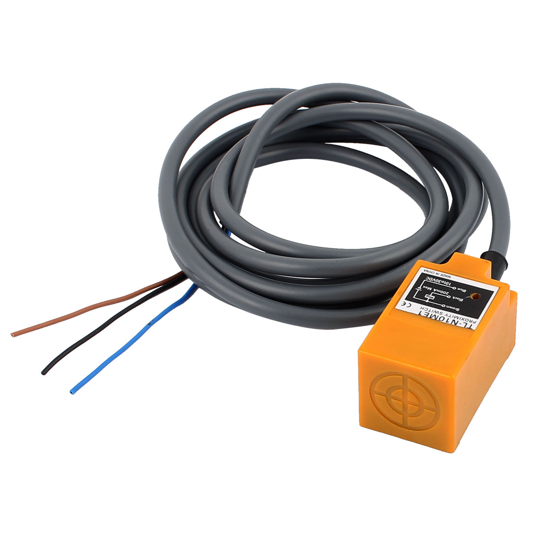 DC 10-30V 200mA 3 Wires NPN NO 10mm Inductive Proximity Sensor Switch TL-N10ME1