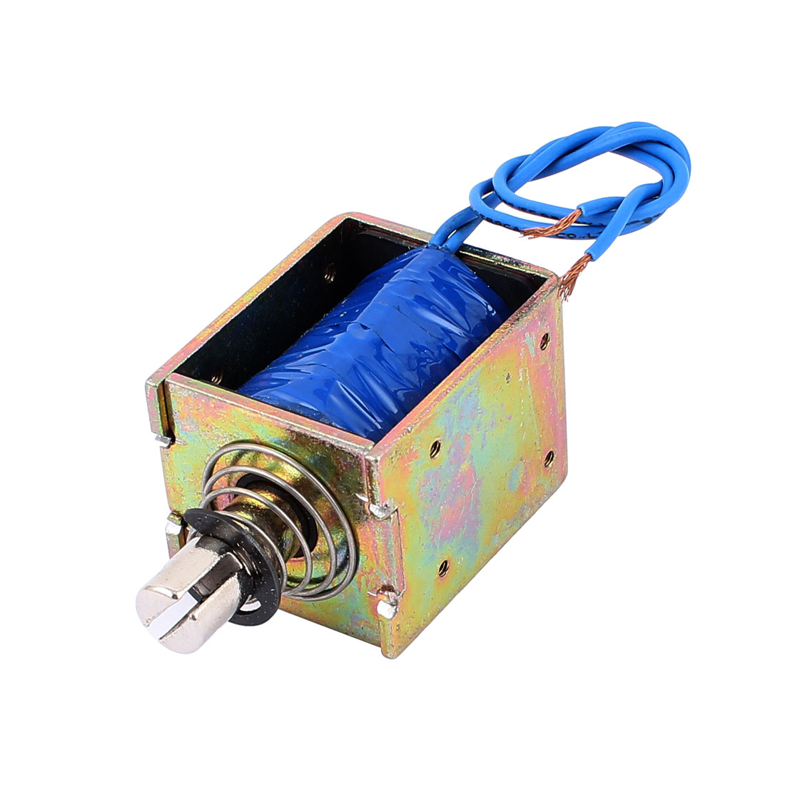 DC24V 2A 10mm 60N Spring Load Push Pull Actuator Electromagnet Solenoid JF-1250B