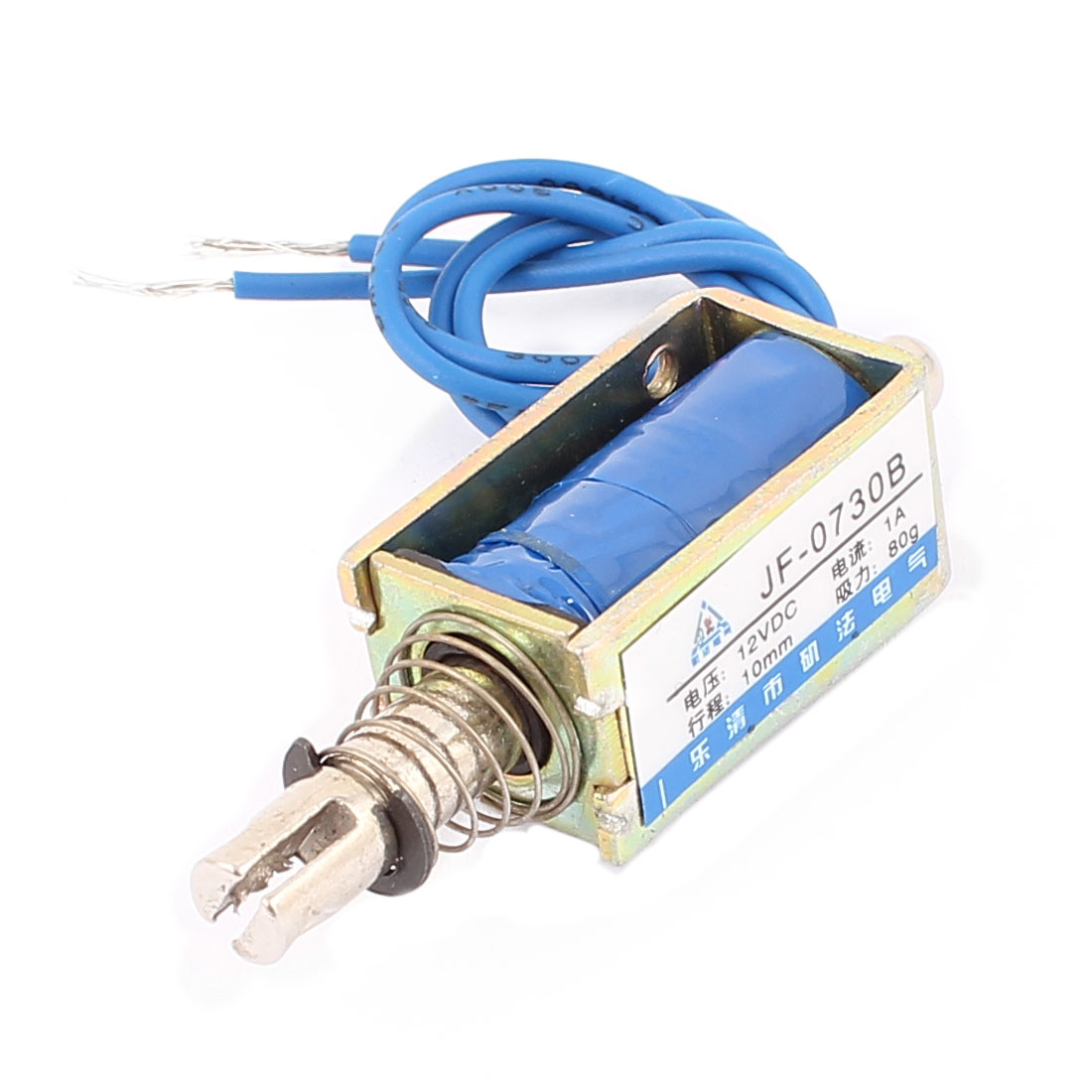 DC12V 1A 10mm 80g Spring Load Push Pull Actuator Electromagnet Solenoid JF-0730B