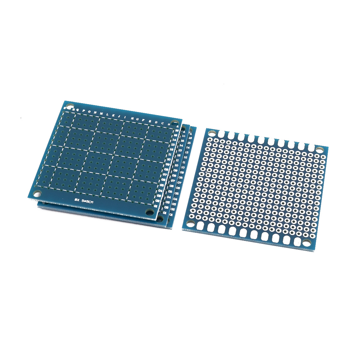 4 Pcs Single Sided Prototype Universal PCB Print Circuit Board 5 x 5CM Blue