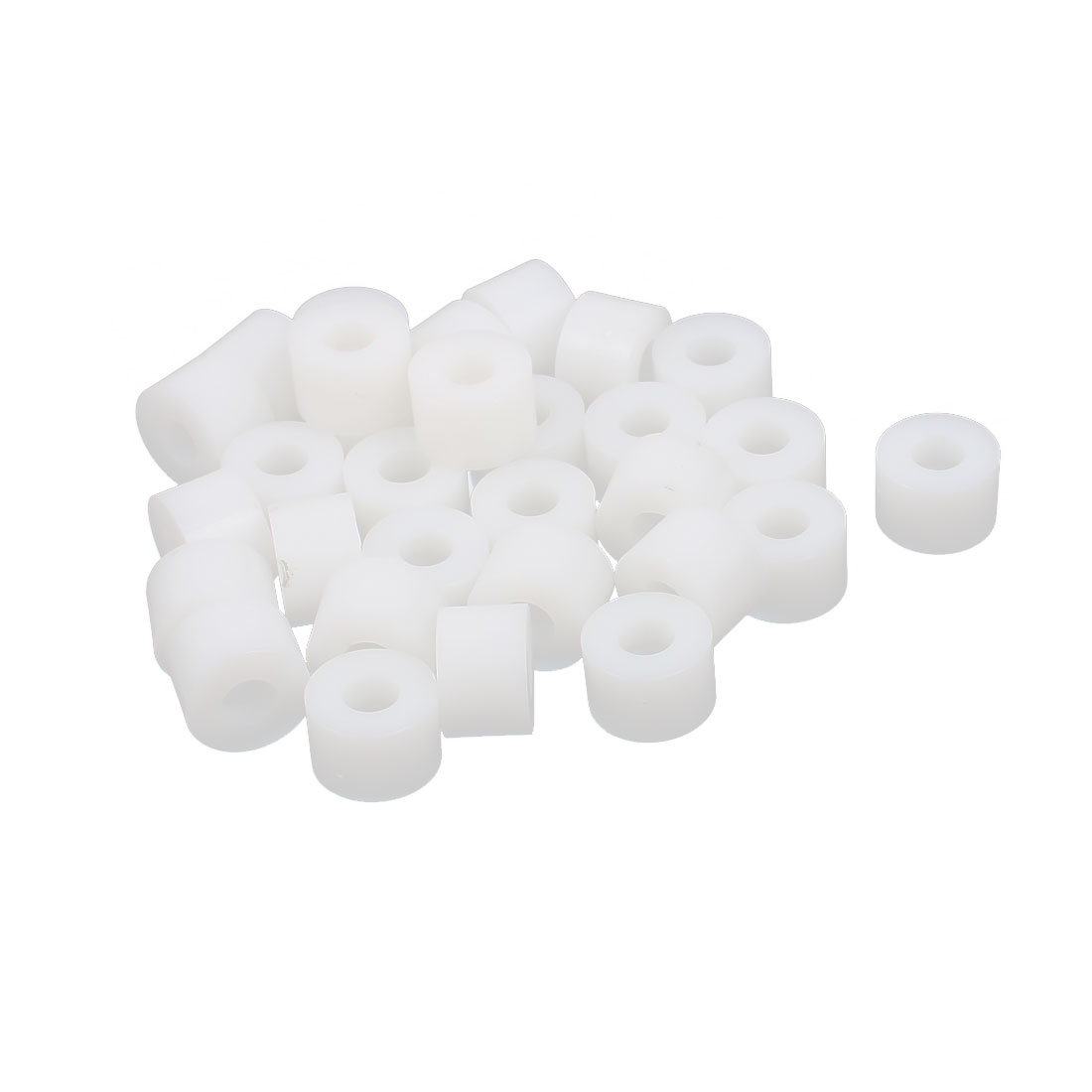 Round Plastic Insulation Column Standoff Support Spacer Tube White 12x8mm 30pcs