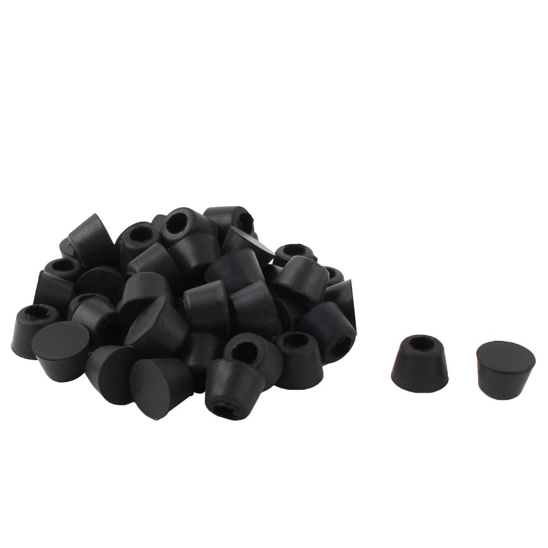 20mm x 27mm x 18mm Amplifier Speaker Instrument Rubber Feet Pad Black 50pcs