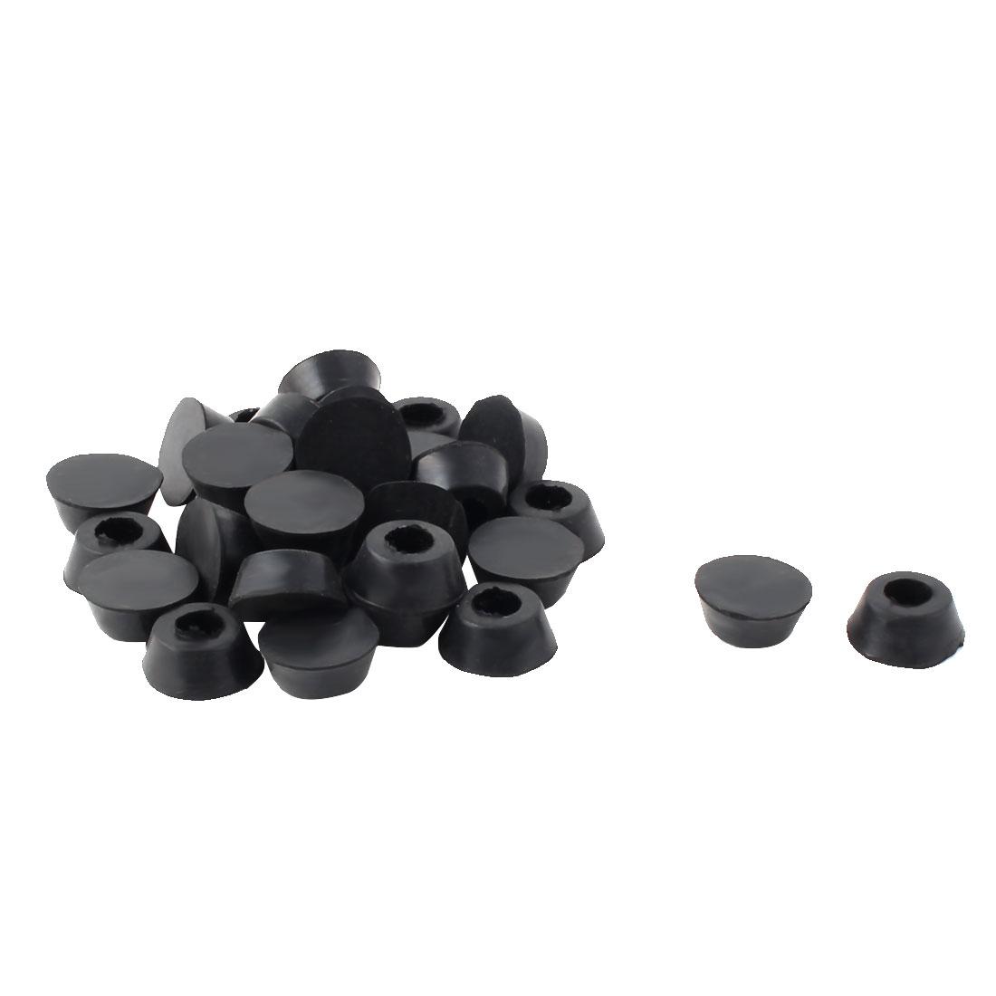 14mm x 18mm x 8mm Amplifier Speaker Instrument Rubber Feet Pad Black 30pcs