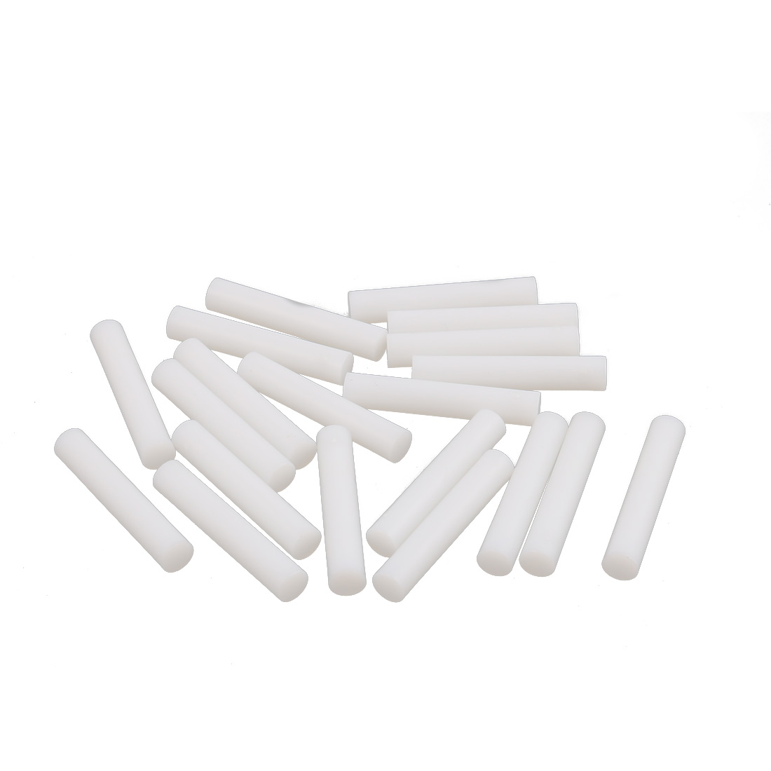 Round Plastic Insulation Column Standoff Support Spacer White 5mm Diameter 28mm Length 20Pcs