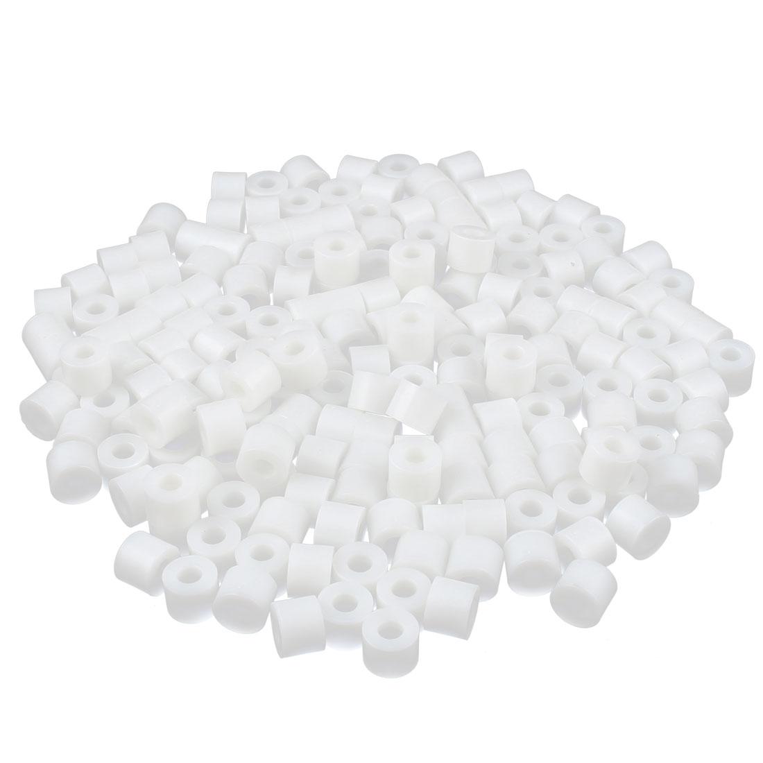 200 Pcs 11x9x5mm Plastic Round Flat Standoff Washer Insulation Metric Gasket Beige