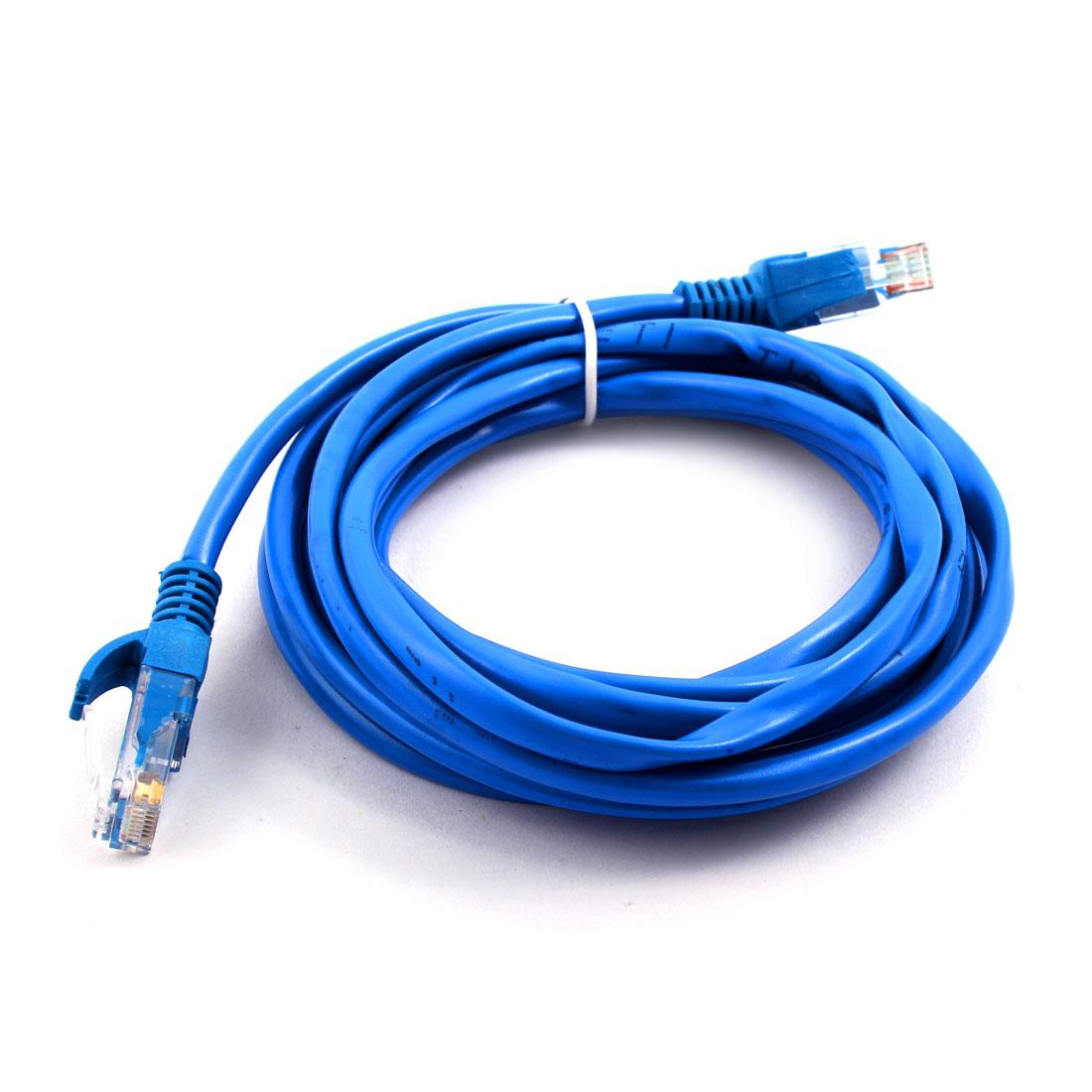 8.53Ft 2.6M RJ45 8P8C Cat5e Patch Ethernet LAN Computer Network Cable Cord Blue