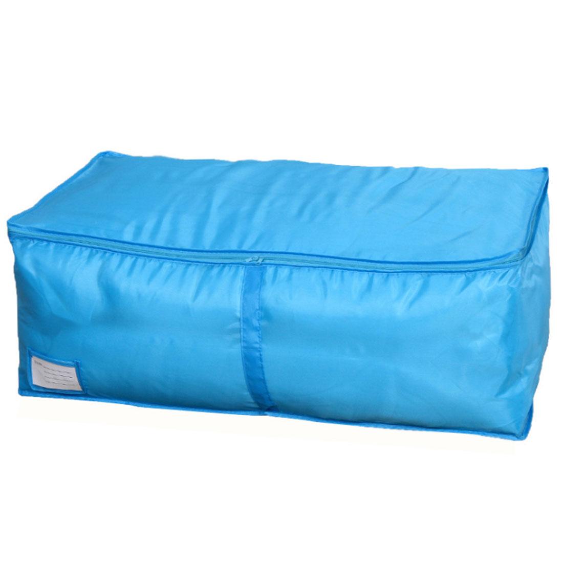 Home Nylon Quilt Bedquilt Down Jacket Storage Tote Bag Organizer Container Blue