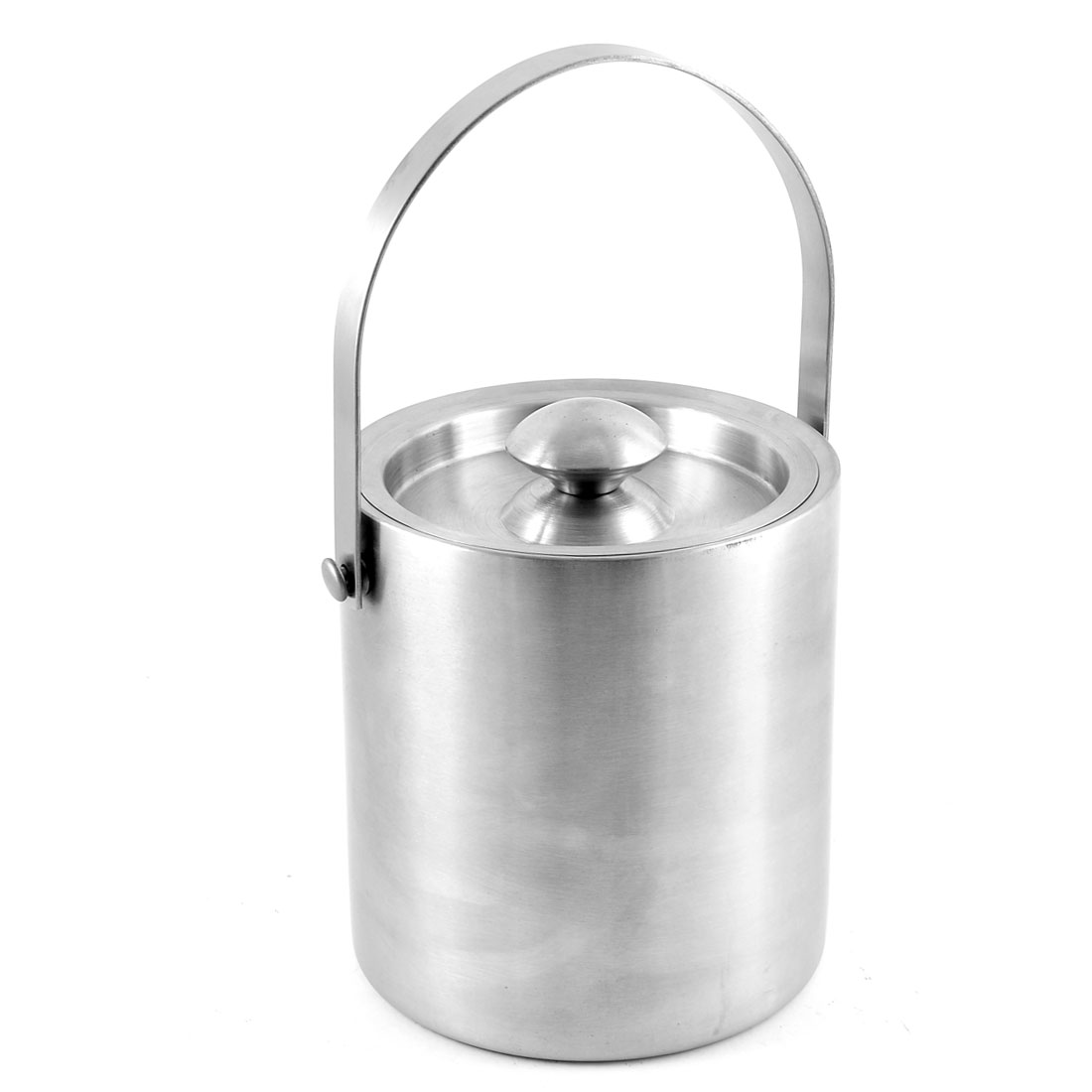 2L Bar Restaurant Double Walled Insulated Stainless Steel Ice Bucket with Lid