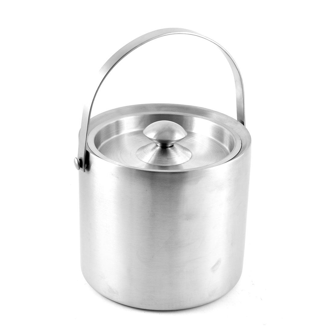 3L Bar Party Restaurant Dual Walled Stainless Steel Ice Bucket with Lid
