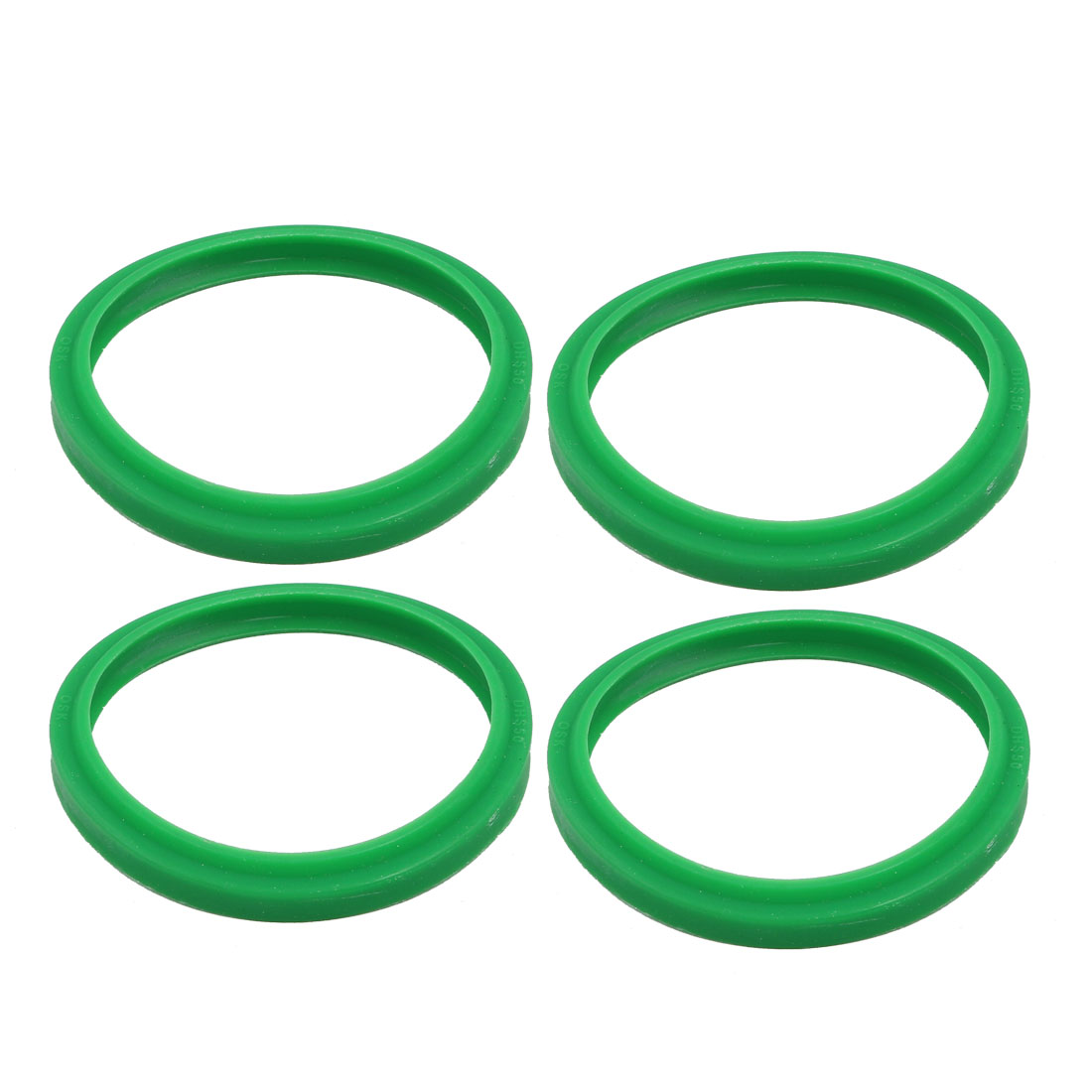 4pcs 58mmx50mmx6.5mm Rubber Dustproof Air Seal Gaskets Green