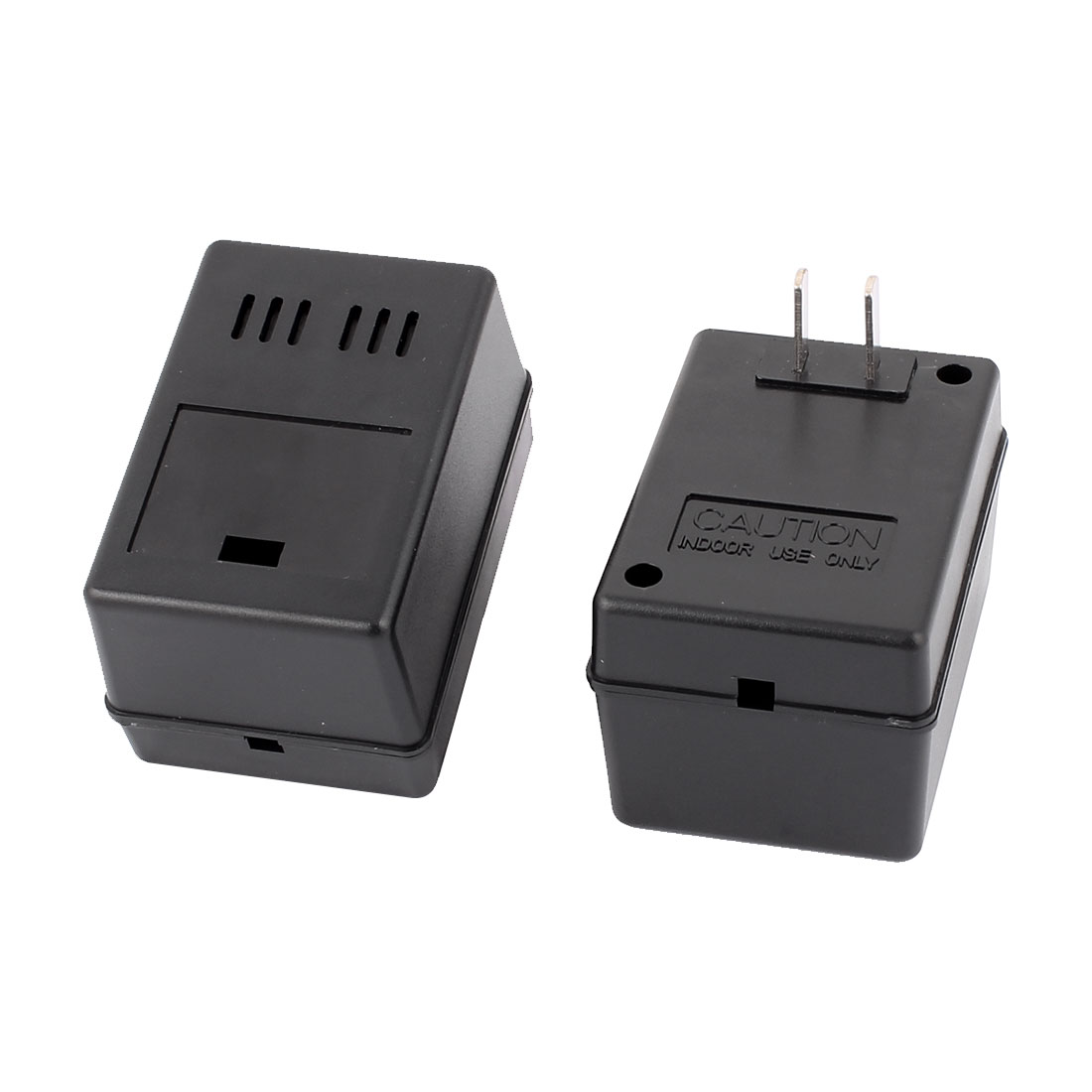 2 Pcs 83mm x 57mm x 50mm US Plug Plastic Enclosure Junction Box Black