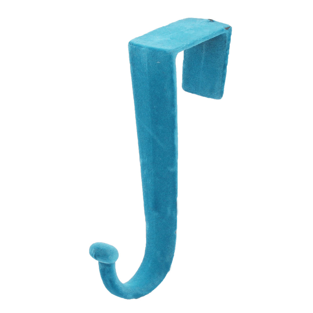 Household Bathroom Bedroom Door Metal Towel Clothes Coat Hanging Hanger Hook Teal Blue