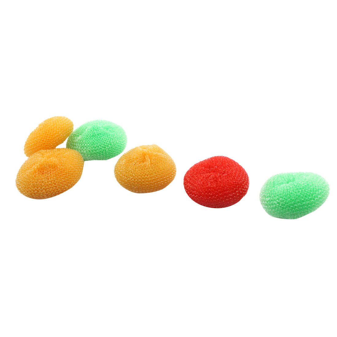 Kitchen Pot Bowl Dish Ball Mesh Scouring Cleaning Washing Scrubber Tricolor 6pcs