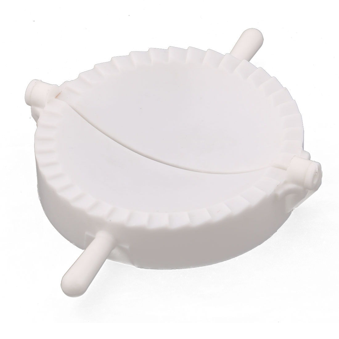 Home Kitchenware Plastic Chinese Dumpling Making Tool Wonton Pastry Mold White