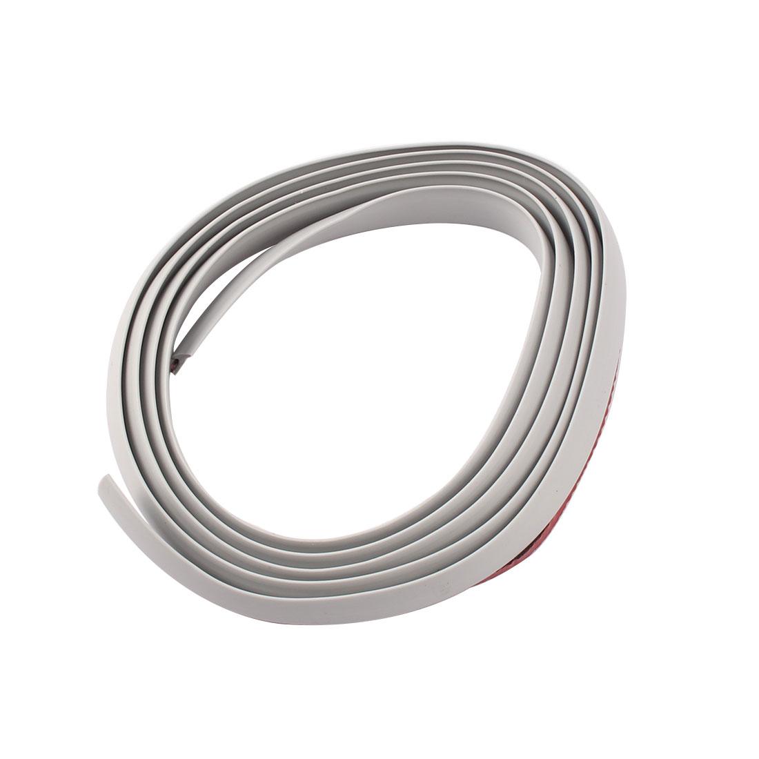 Car Auto Door Edge Guard Trim Decoration Protection Strip Gray 1.6M Length