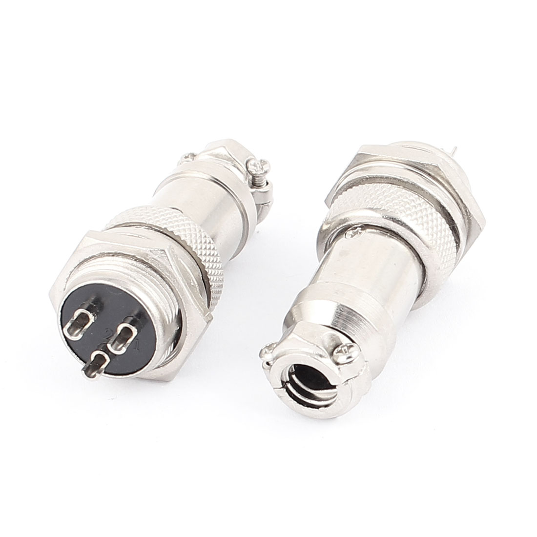 2Pcs Cable Mounting Aviation Connector 16mm Dia Screw GX16 3Pin AC 220V 20A