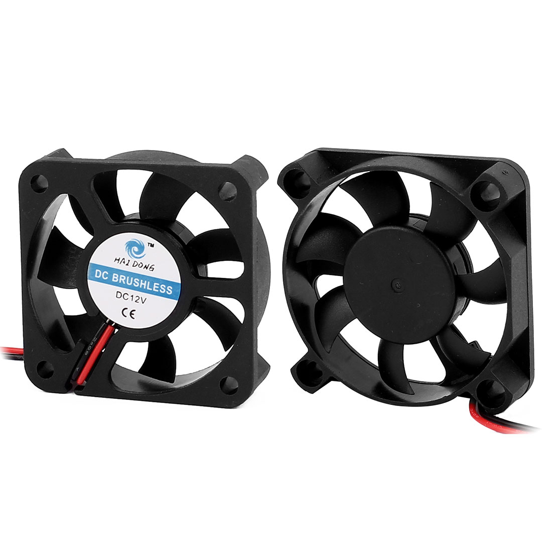 2Pcs 50x50x12mm 12V Computer/PC/CPU Silent Extractor Cooling Case Fan 7 Vanes Black