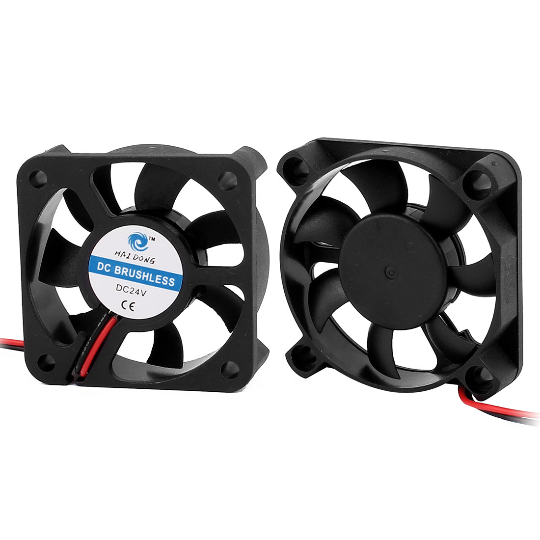 2Pcs Black Scythe Mini Kaze 50mm Quiet Cooling Case Fan 4000 RPM, 7.25 CMF, 21 dBA, 5cm