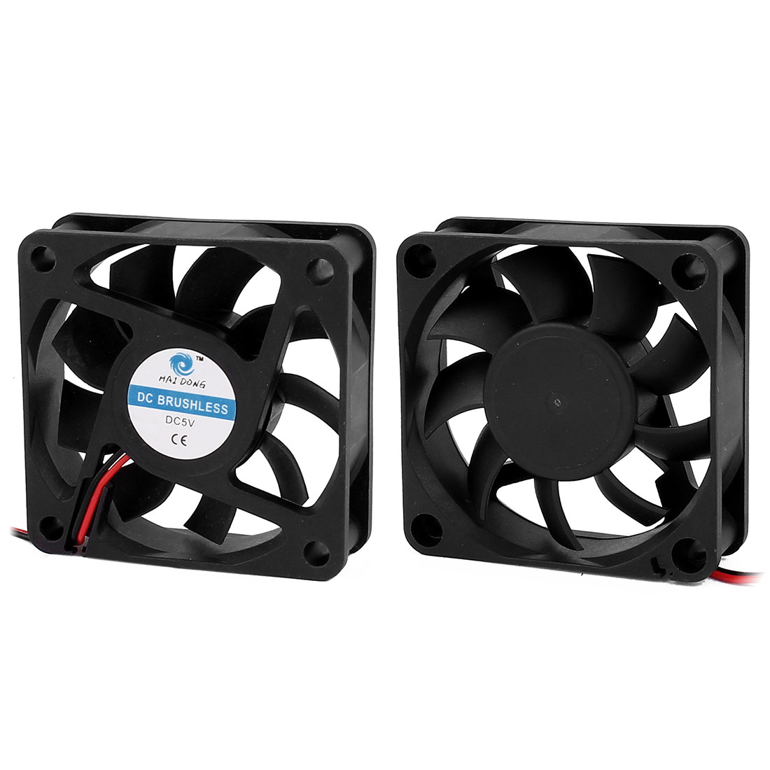 2Pcs DC 5V 0.15A Extractor Cooling Fan 60 x 15mm for PC Computer Case CPU Cooler
