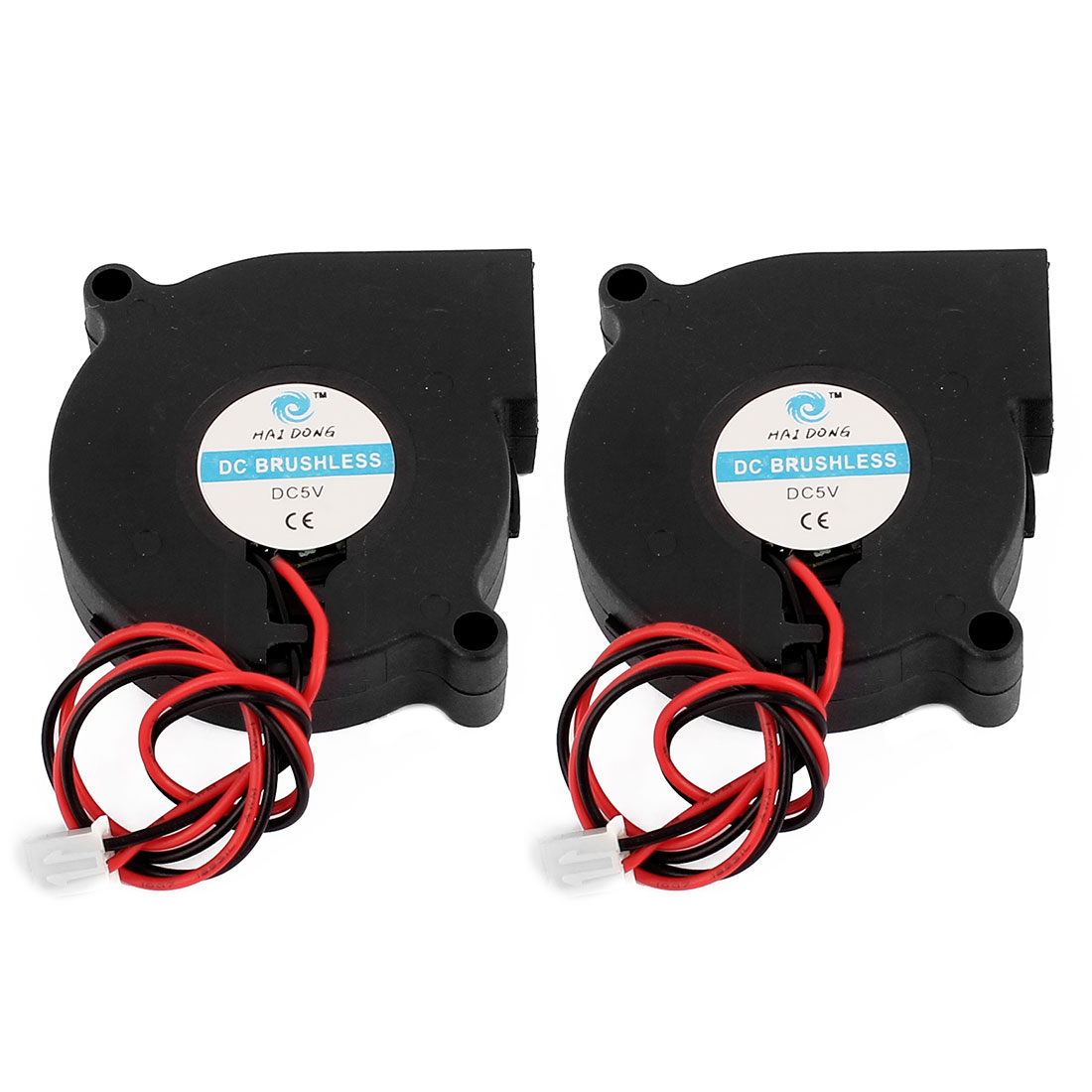 50 x 50 x 15mm 2pole DC 5V Brushless Cooling Fan 2Pcs for PC Case Computer CPU