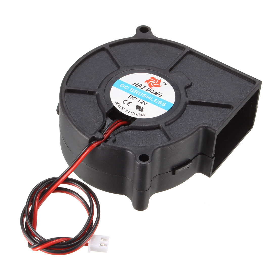 DC12V 75 x 75 x 30mm Brushless Turbo Blower Cooler Cooling Fan 2Pcs for PC Case