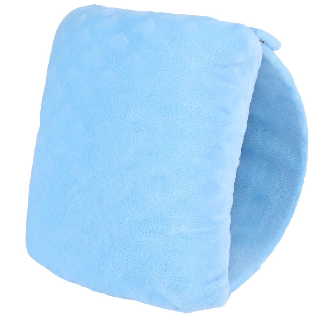 School Office Plush Coated Portable Travel Sleep Soft Nap Pillow Cushion Sky Blue