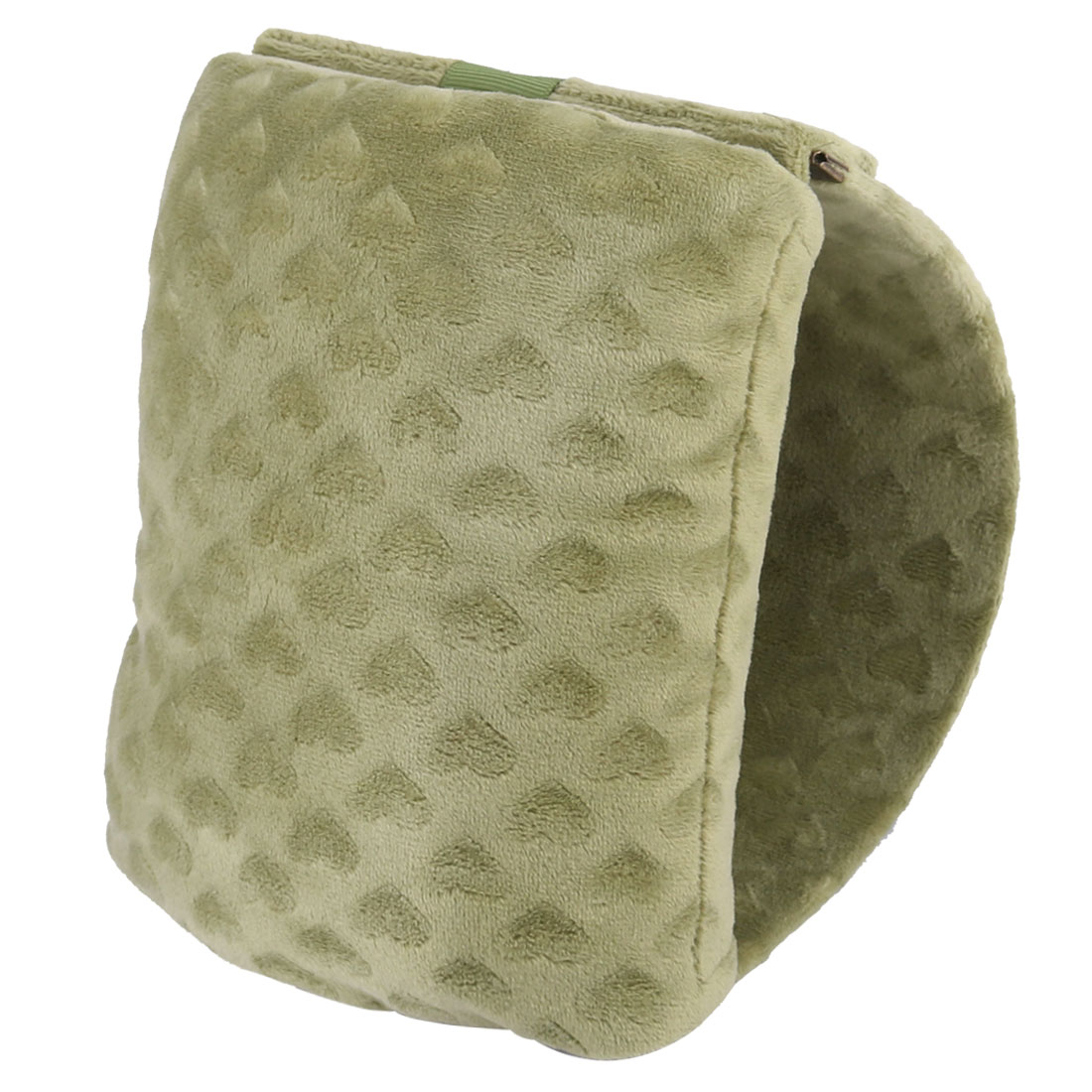 Office Desk Plush Coated Portable Travel Sleep Nap Pillow Cushion Olive Green
