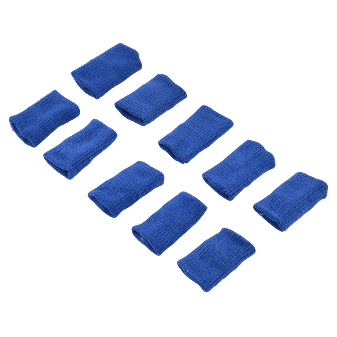 Sports Stretchy Finger Sleeve Bandage Support Arthrle Protector Blue 10pcs